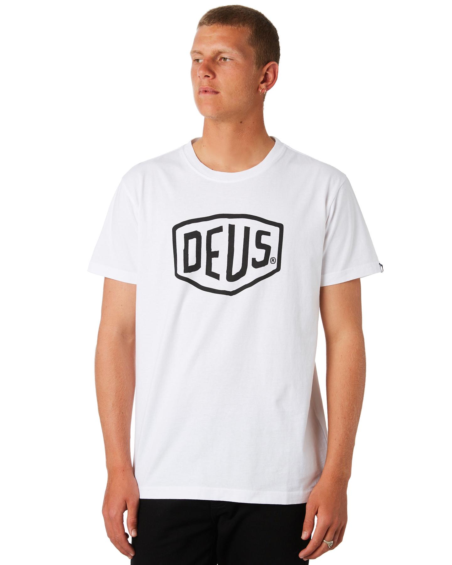 New-Deus-Ex-Machina-Men-039-s-Shield-Tee-Crew-Neck-Cotton-White