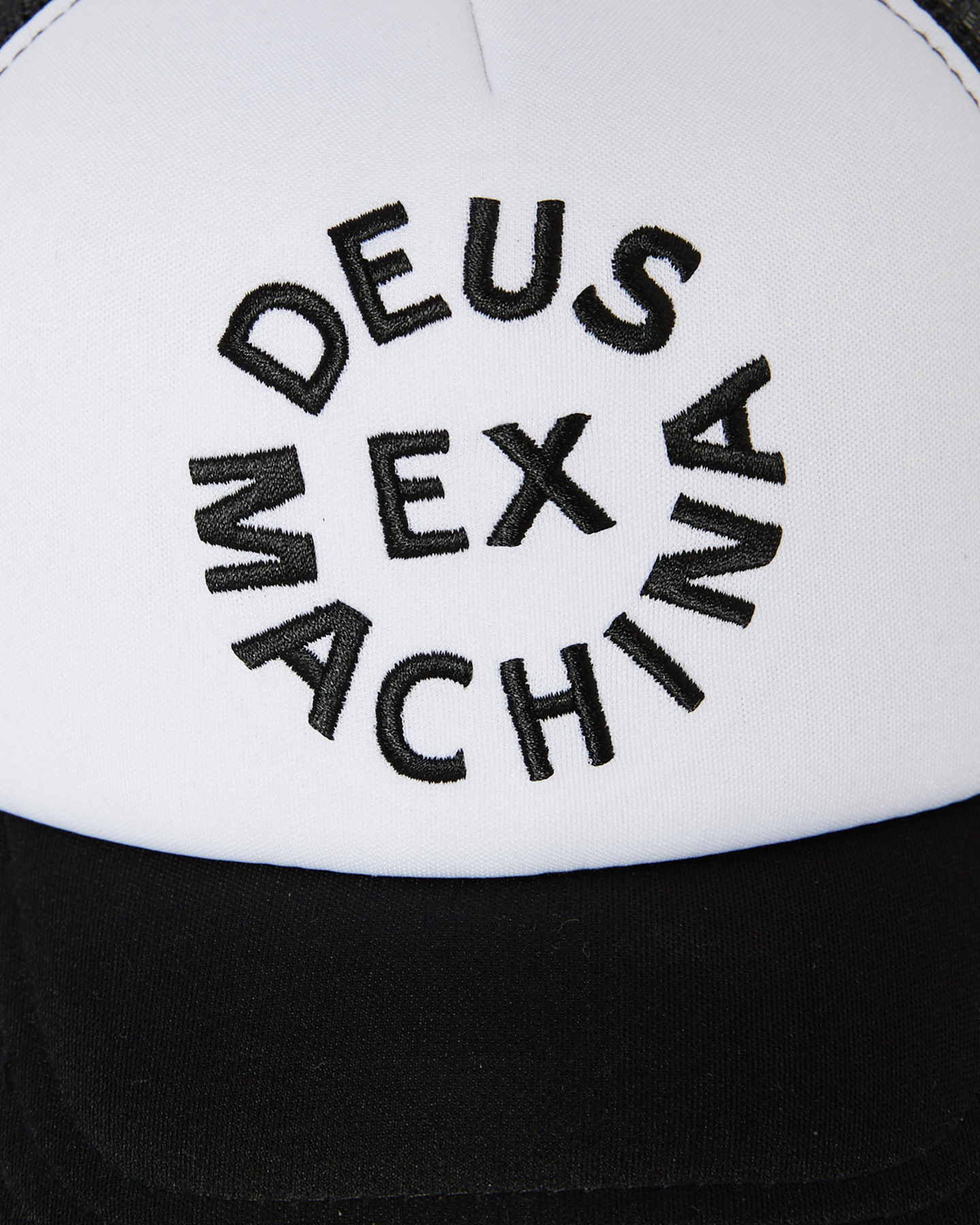 e9f1a3d635b Deus Ex Machina Men s Circle Logo Trucker Cap Mesh Black