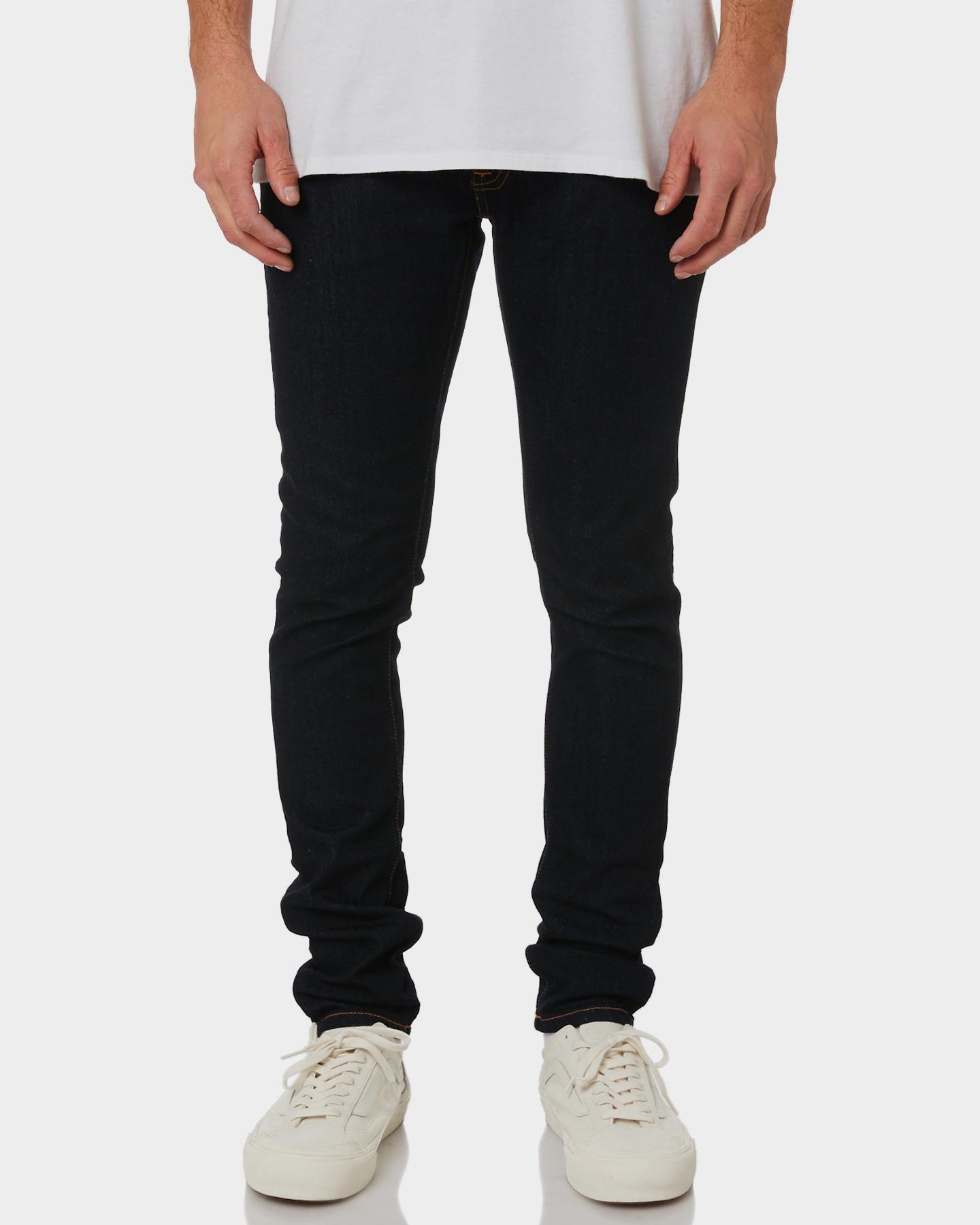 96505546d7df Nudie Jeans Co Men s Skinny Lin Mens Jean Cotton Elastane Blue