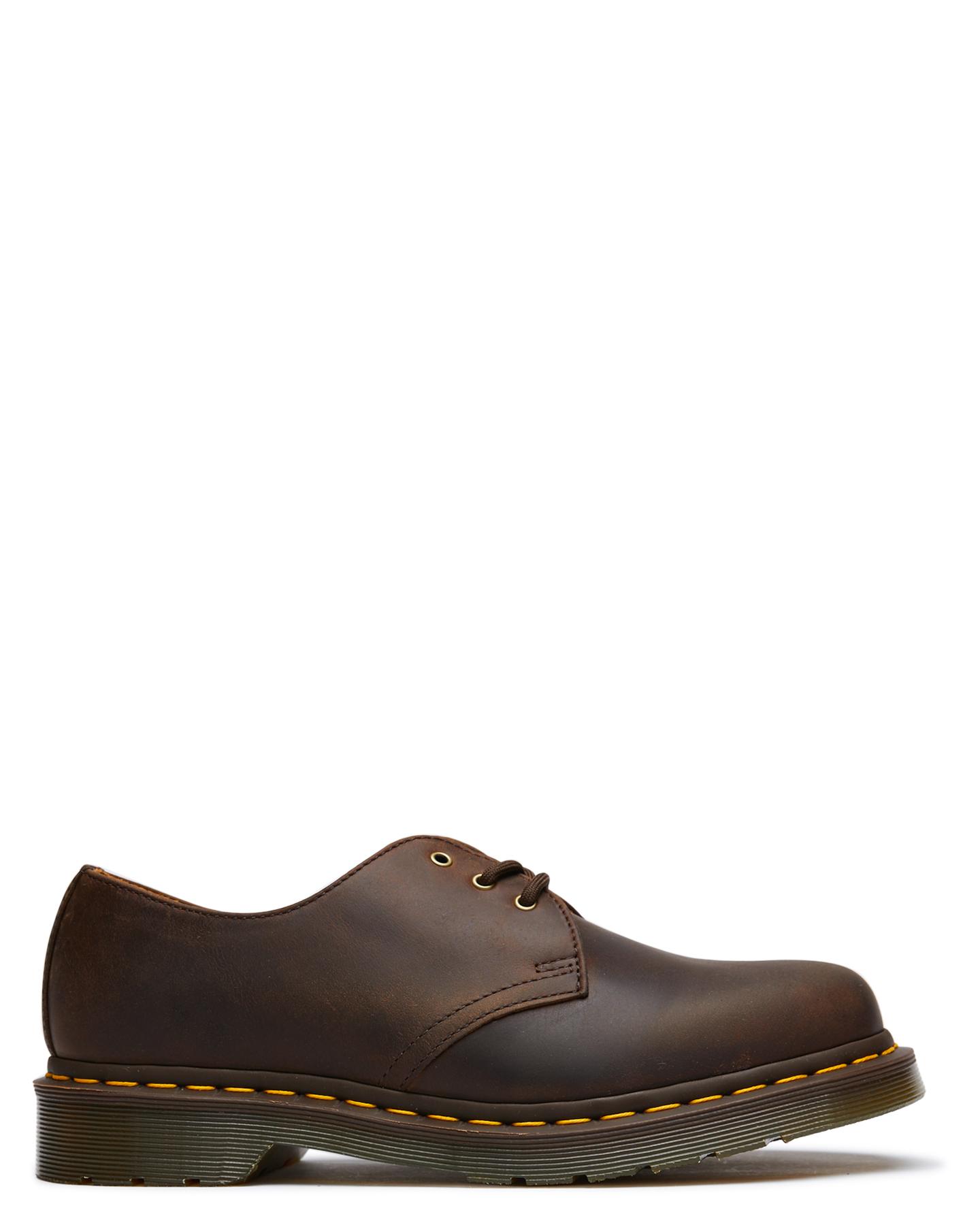 New Dr. Martens Women's Womens Classics 1461 shoes Rubber Brown