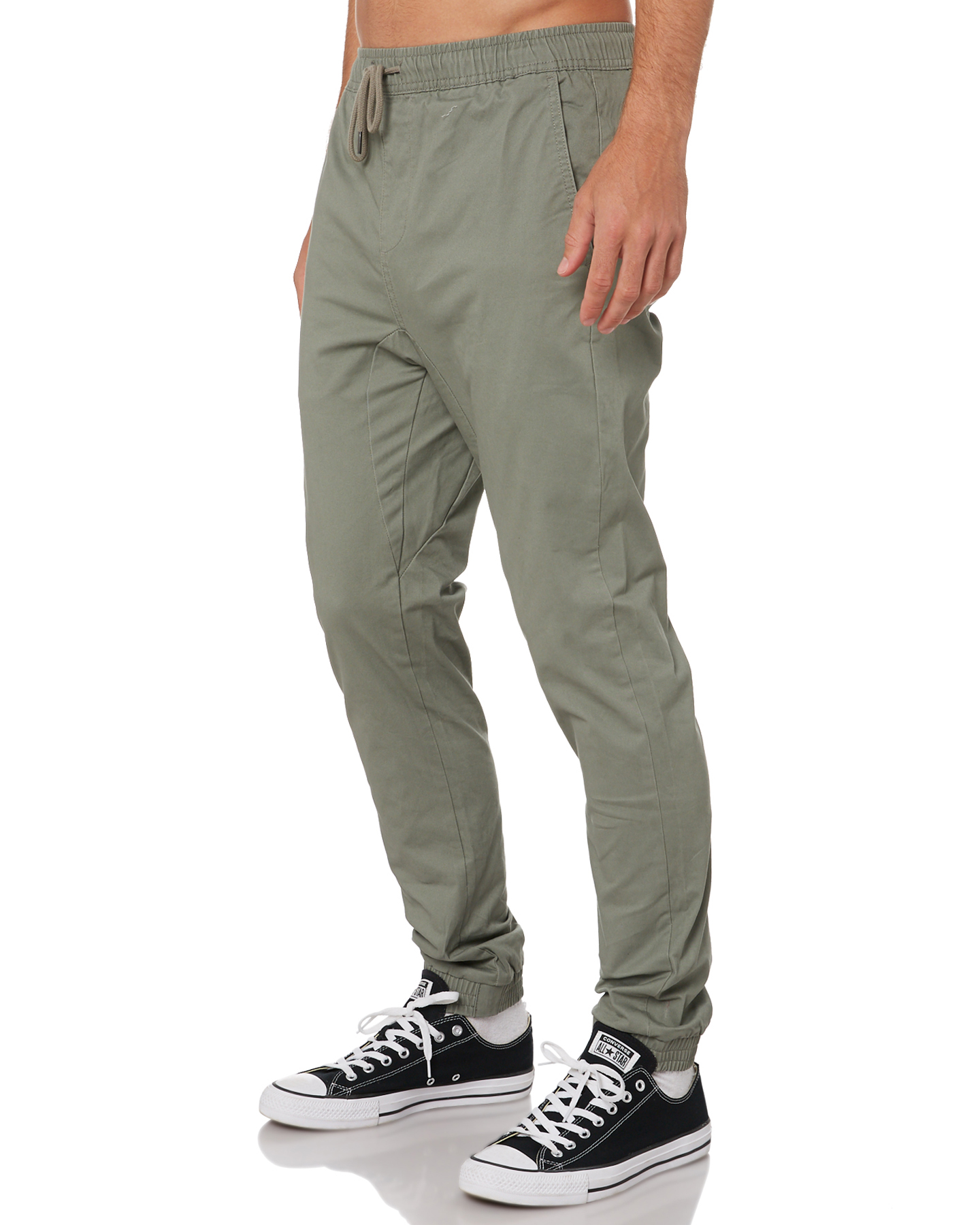 New-Swell-Men-039-s-Blunt-Cargo-Mens-Jogger-Pant-Cotton-Elastane-Green thumbnail 17