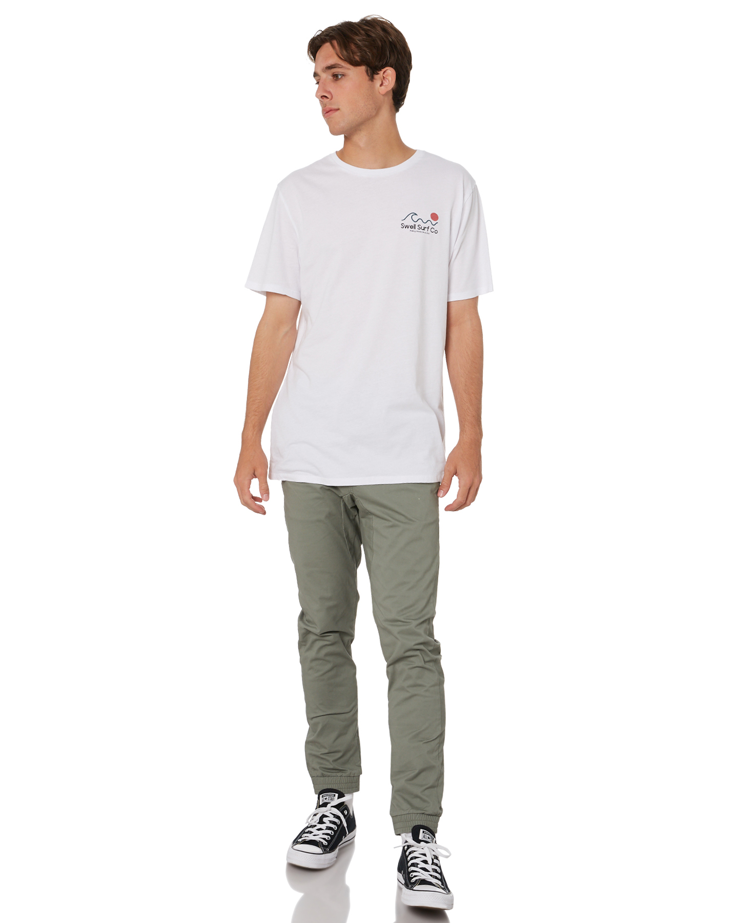 New-Swell-Men-039-s-Blunt-Cargo-Mens-Jogger-Pant-Cotton-Elastane-Green thumbnail 20