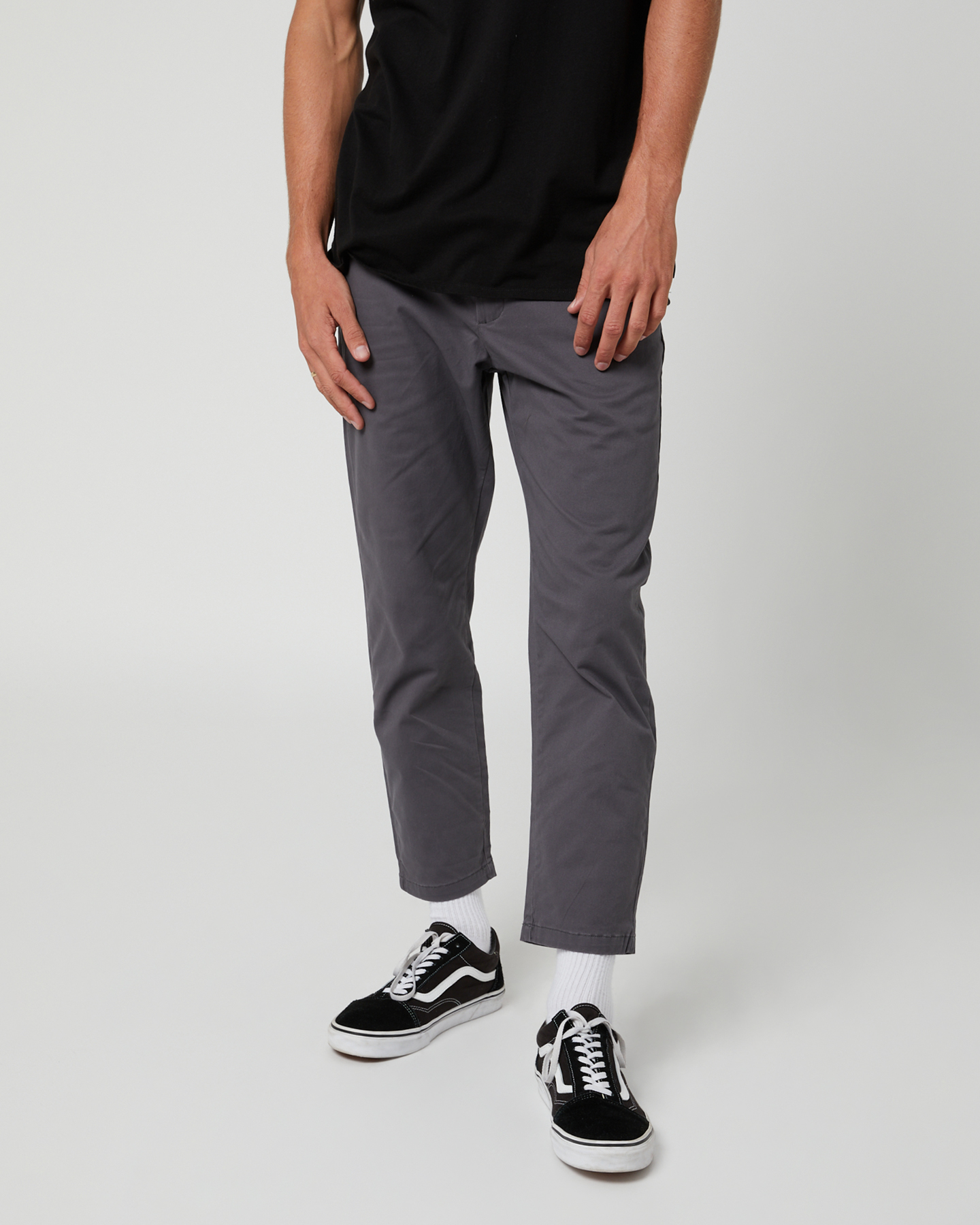 Swell Dandy Mens Crop Pant Grey