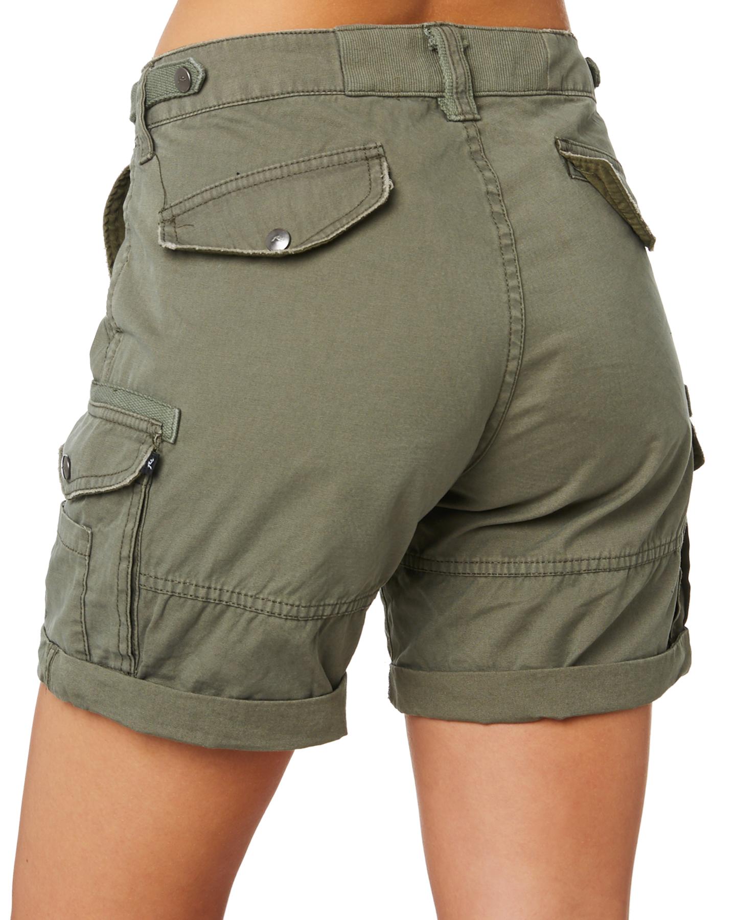 Womens Khaki Cargo Shorts