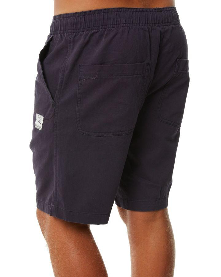 New-Rusty-Men-039-s-Off-The-Hook-Mens-Elastic-Short-Cotton-Blue