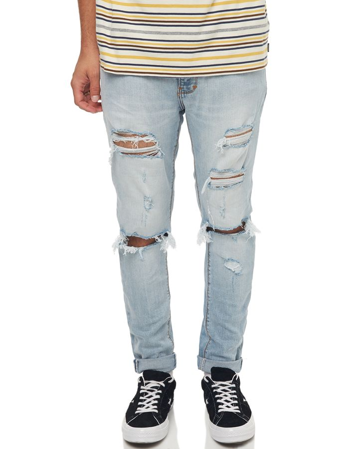 Image of A.Brand A Dropped Skinny Turn Up Mens Jean Worn Riot Worn Riot