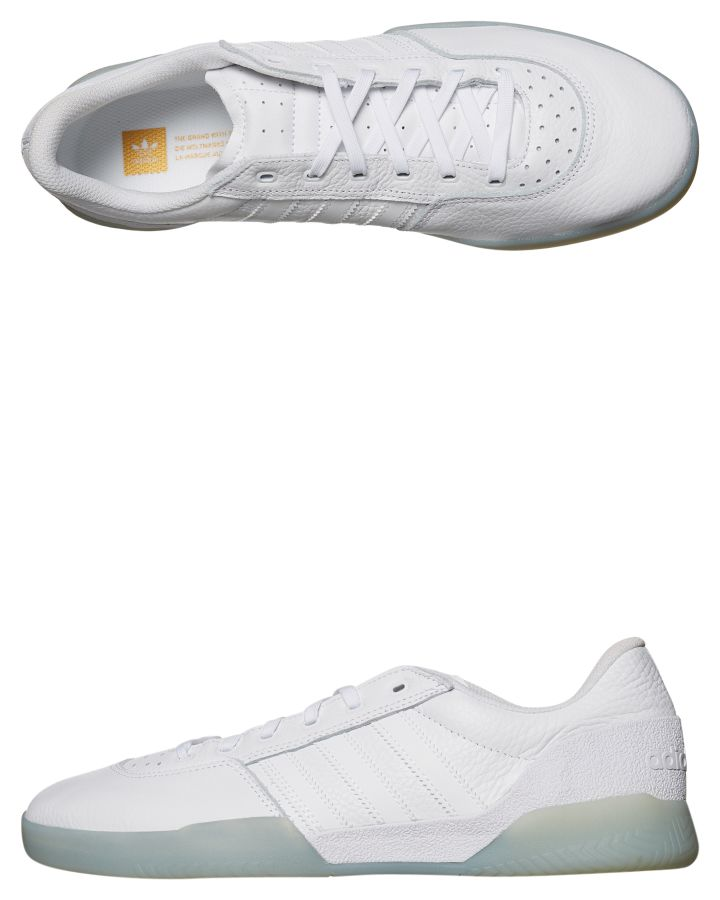3823cb4efa New Adidas Skate Men s City Cup Leather Shoe Rubber Mesh Leather White 14