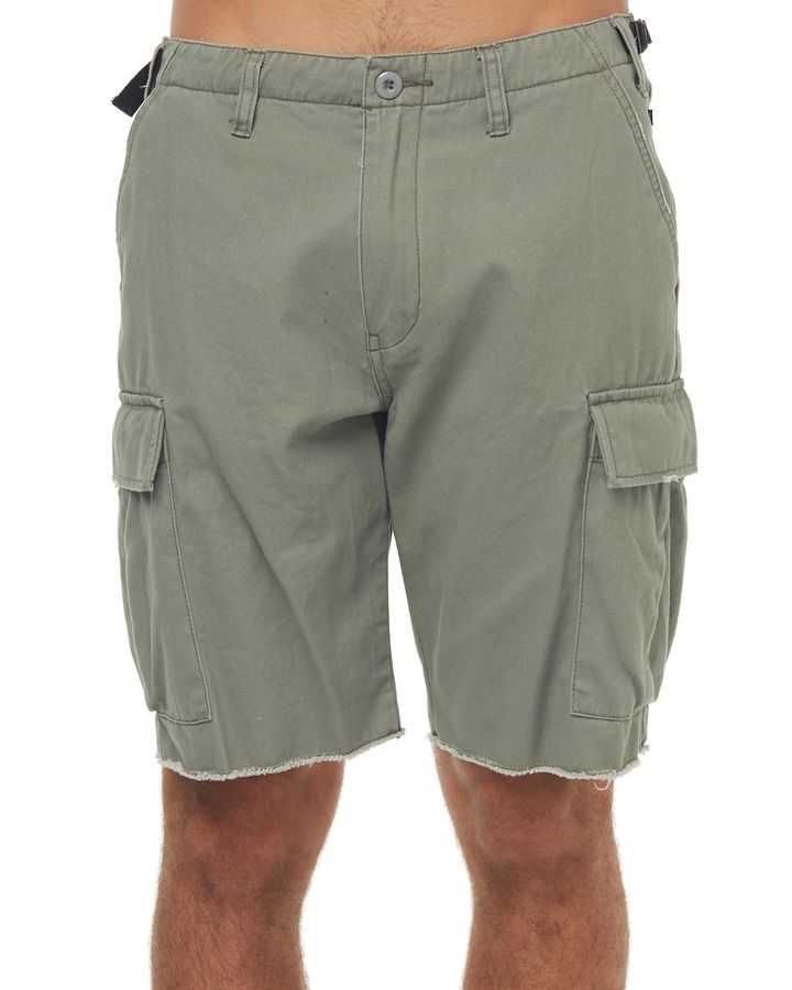New-Rusty-Men-039-s-Workshop-Mens-Cargo-Short-Cotton-Fitted-Green
