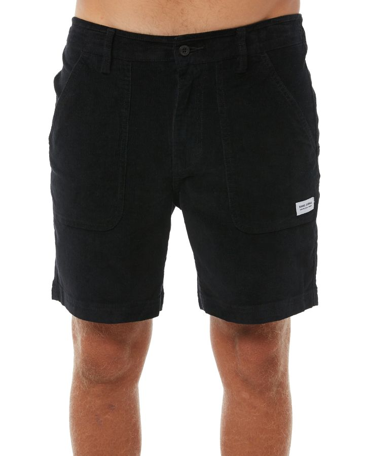 Banks Big Bear Mens Cord Short Dirty Black 649862519673
