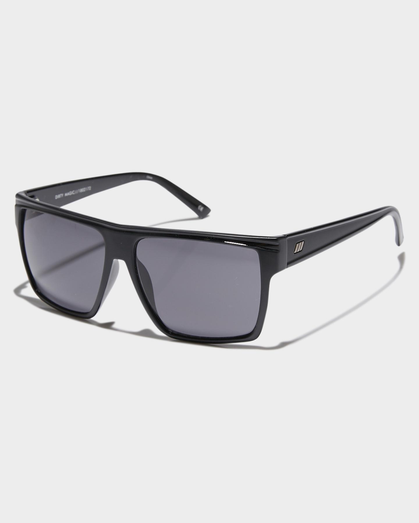 4aaeffc3fb9 Le Specs Men s Dirty Magic Sunglasses Glass Black 9324976267559