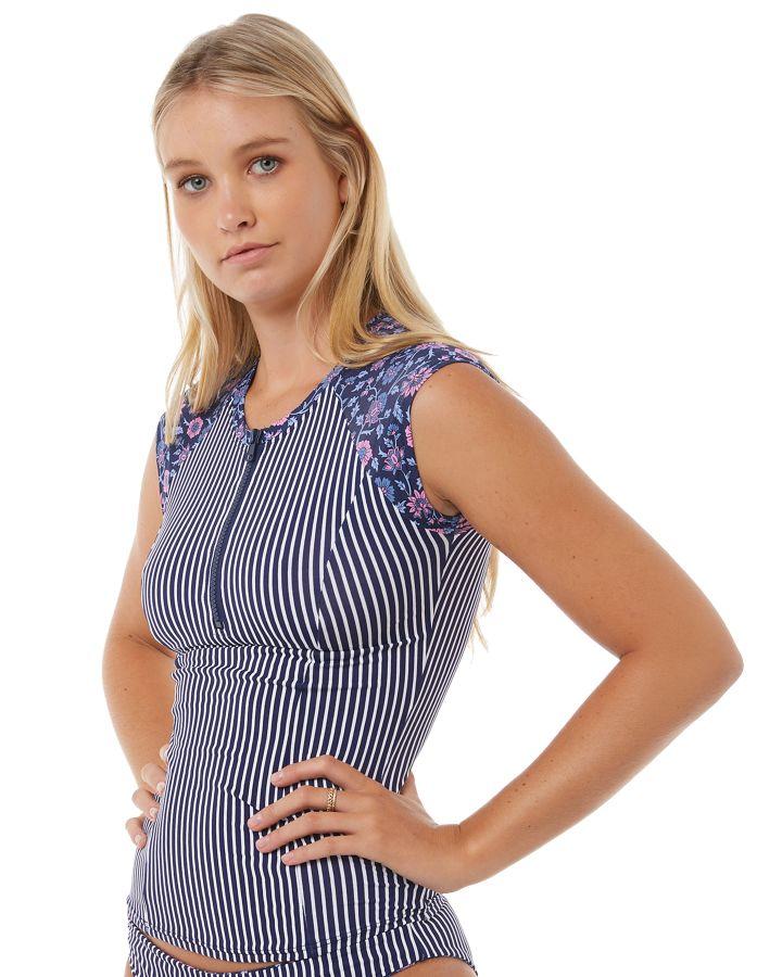 Swell Surf Women s Castaway Ss Rash Vest Short Sleeve Fitted Elastane 08e9f1c84