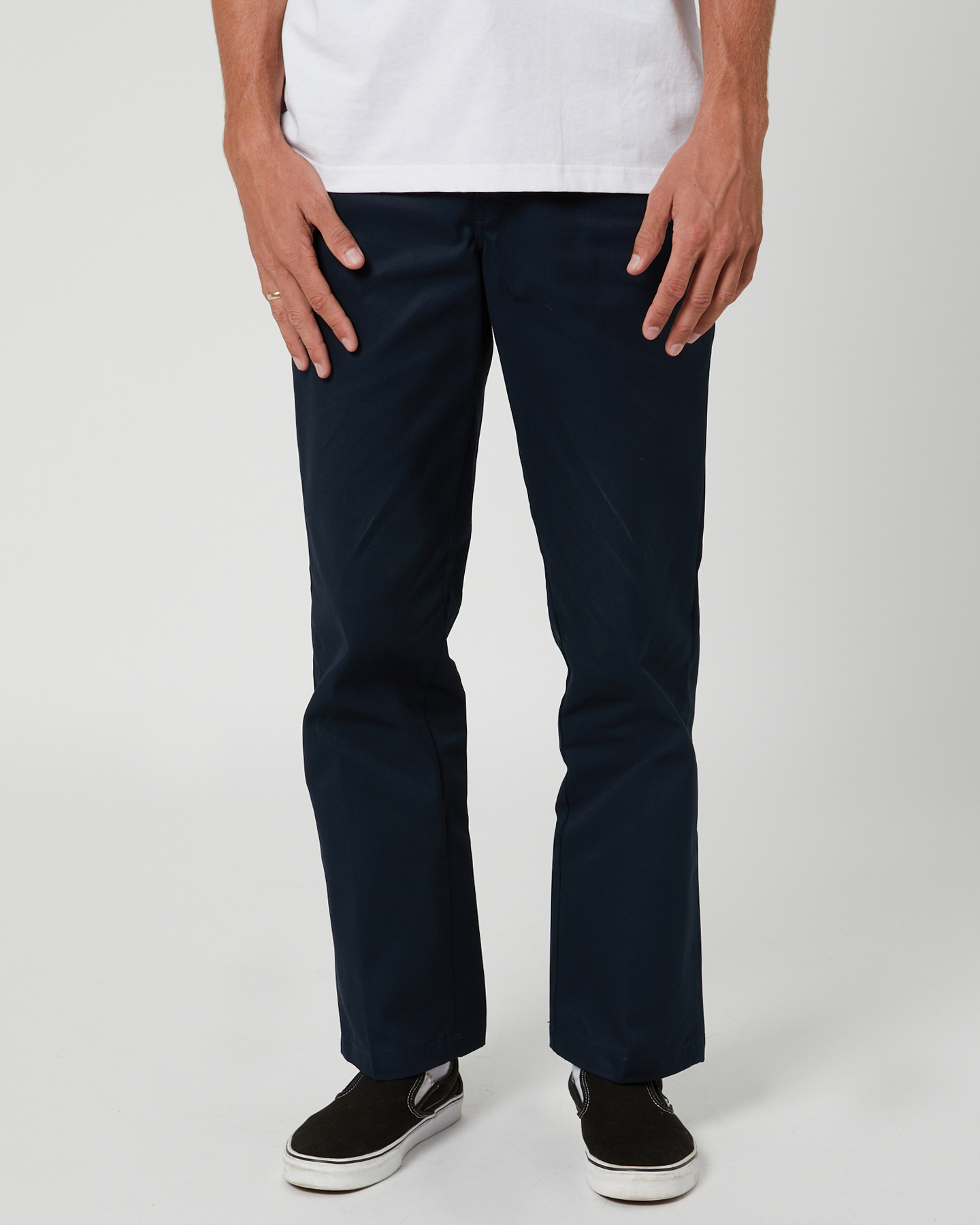 Dickies 874 Original Fit Mens Navy Cotton Polyester Flat Front Pants Dark Navy