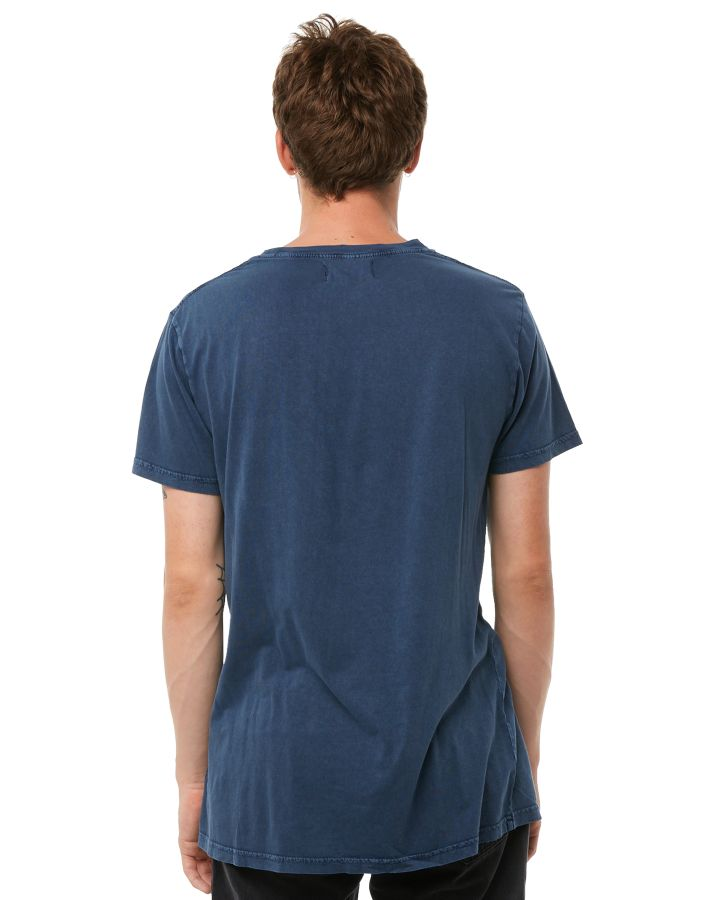 New-Rollas-Men-039-s-Old-Mate-Mens-Tee-Crew-Neck-Short-Sleeve-Cotton-Soft-Blue