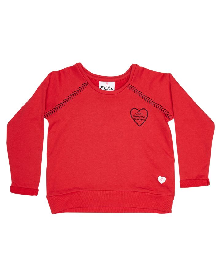 Eves Sister Tots Girls Chasing Dreams Crew Red 9350105947238