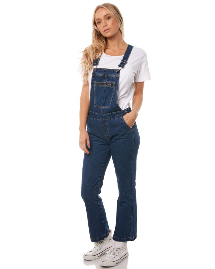 e62bb8e9ab New The Hidden Way Women s Womens Nomad Overall Cotton Fitted Blue ...
