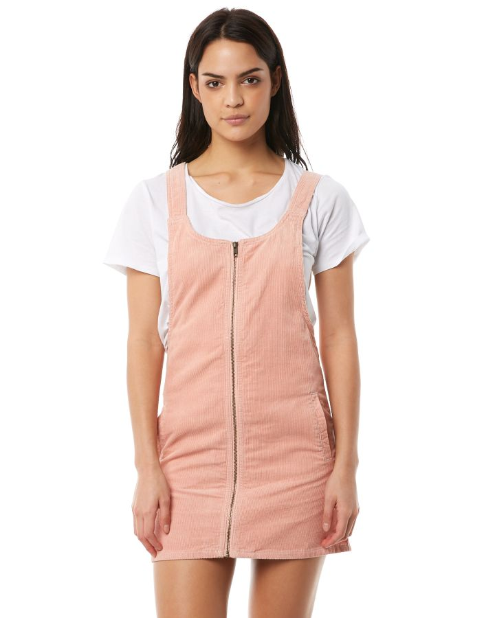 5655b9e7dc9 Afends Womens Almond - Corduroy Pinafore Dress Washed Peach Washed Peach