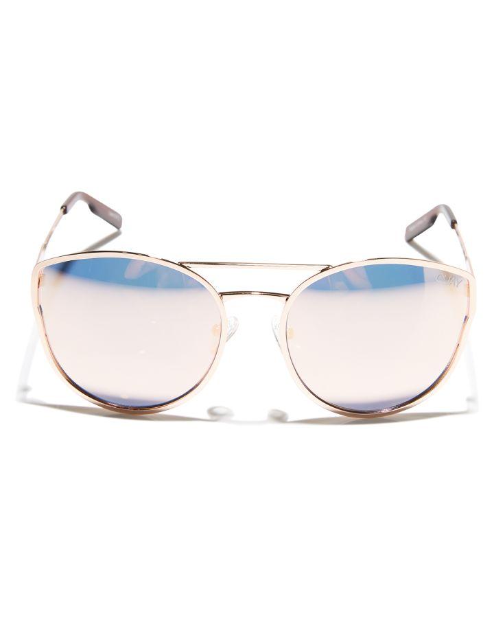 3f3c5adfa12 Quay Eyewear Women s Cherry Bomb Sunglasses Stainless Steel Glass Pink