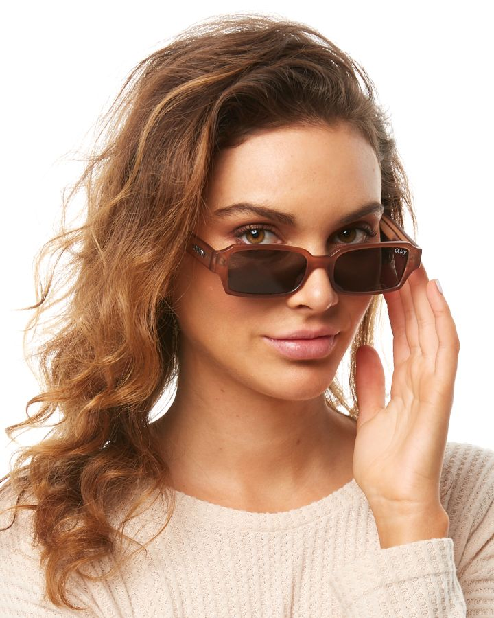 54b4bbb5db3ba New Quay Eyewear Women s Sofia Richie Strange Love Sunglasses Brown Smoke  N A