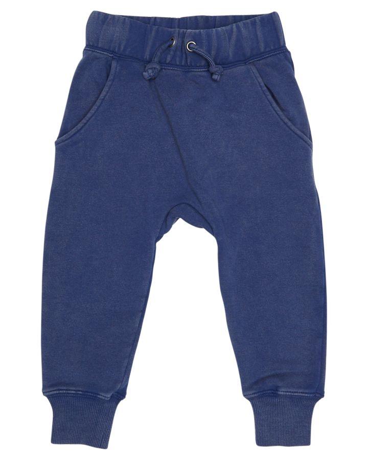 Rock Your Baby Tots Boys Drop Crotch Track Pant Blue 9342273167211