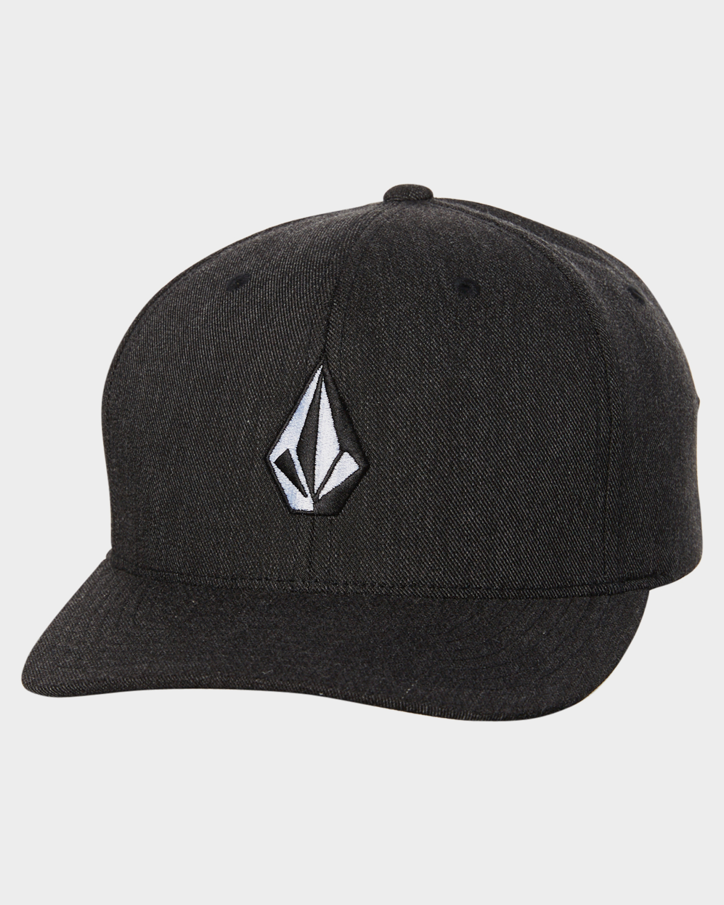 Volcom Full Stone Heather Xfit Cap Charcoal Heather Charcoal Heather