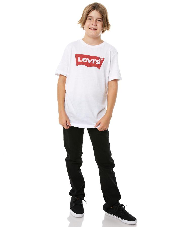 New-Levi-S-Boys-Levi-039-s-Kids-Boys-511-Slim-Jean-Cotton-Spandex-Black