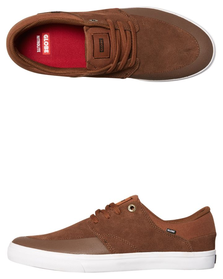 New-Globe-Skate-Men-039-s-Chase-Suede-Shoe-Rubber-Grey
