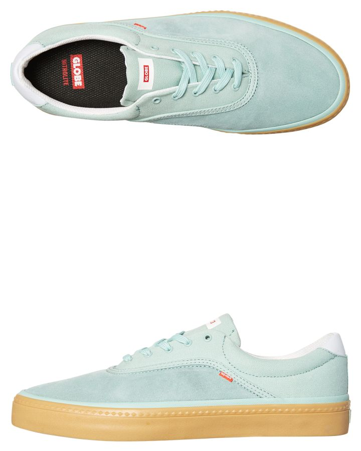 New-Globe-Skate-Men-039-s-Sprout-Shoe-Lace-Canvas-Green