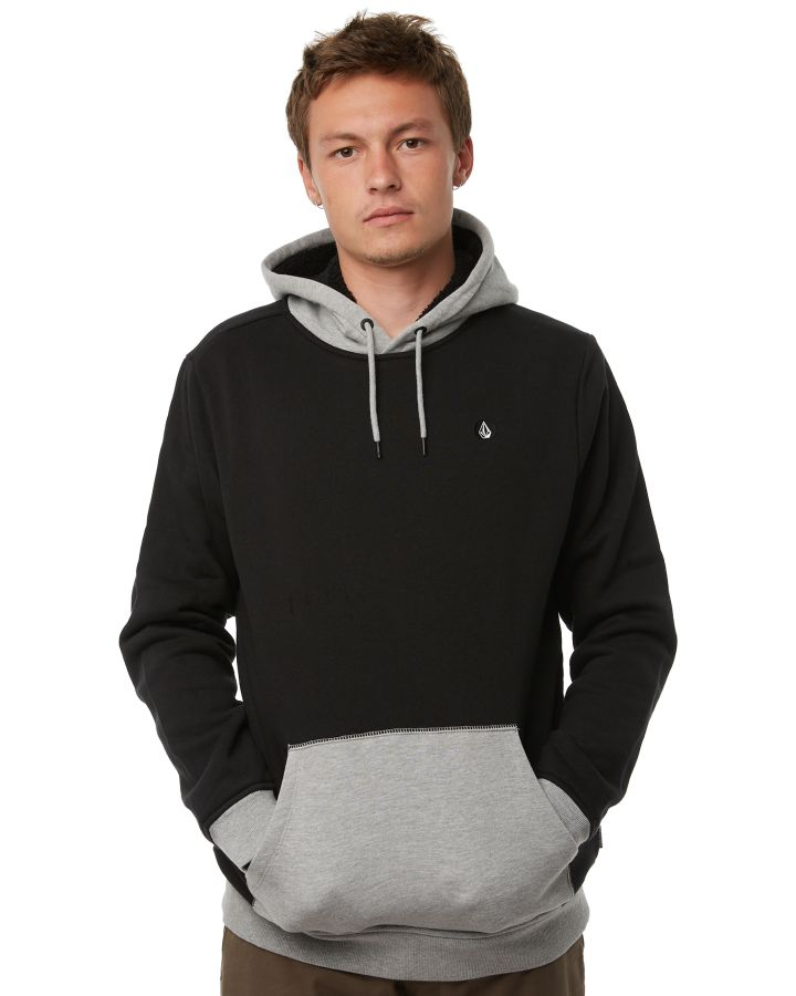 52ce259598 Volcom Division Lined Mens Hood Black Mens Jumpers Size XXL | Budget ...