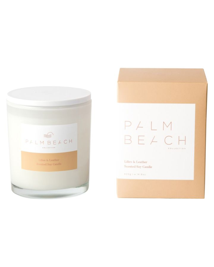Palm Beach Collection Lillies And Leather Candle Lillies Leather Lillies Leather