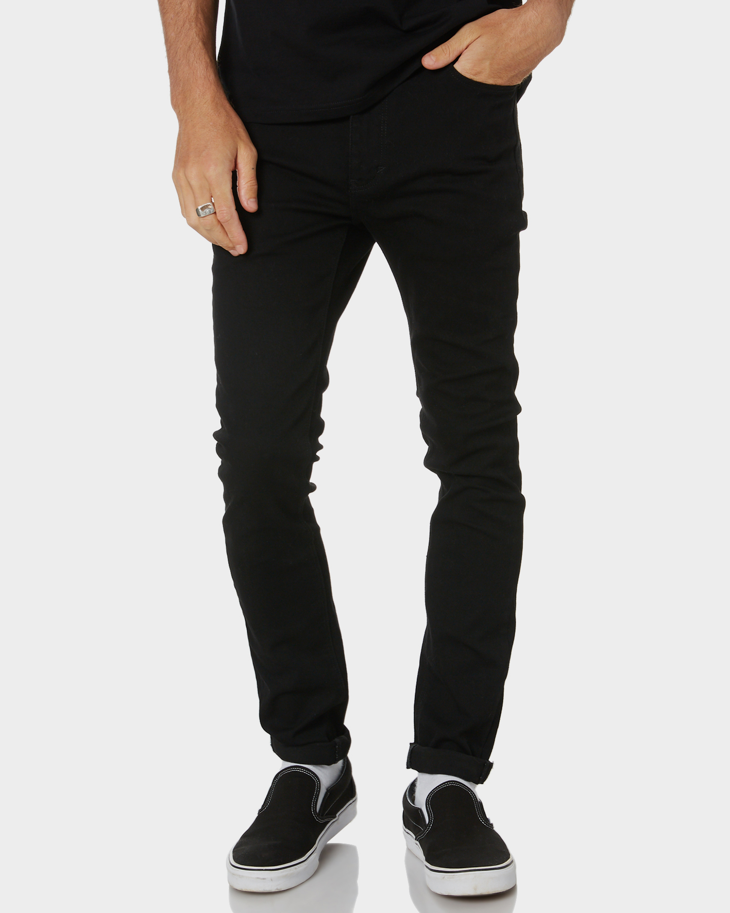 Image of A.Brand A Dropped Skinny Black Mirror