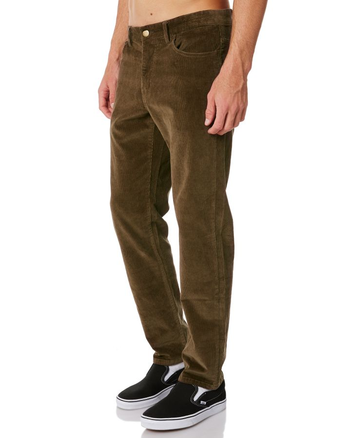 New-Swell-Men-039-s-Hustle-Mens-Cord-Pant-Cotton-Fitted-Corduroy-Green
