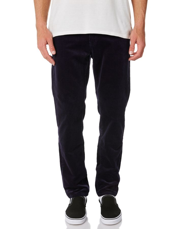 New-Swell-Men-039-s-Hustle-Mens-Cord-Pant-Cotton-Fitted-Corduroy-Blue