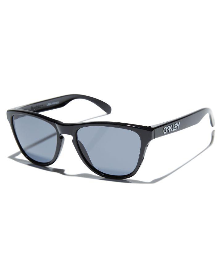Oakley Youth Frogskins Sunglasses Polished Black Grey