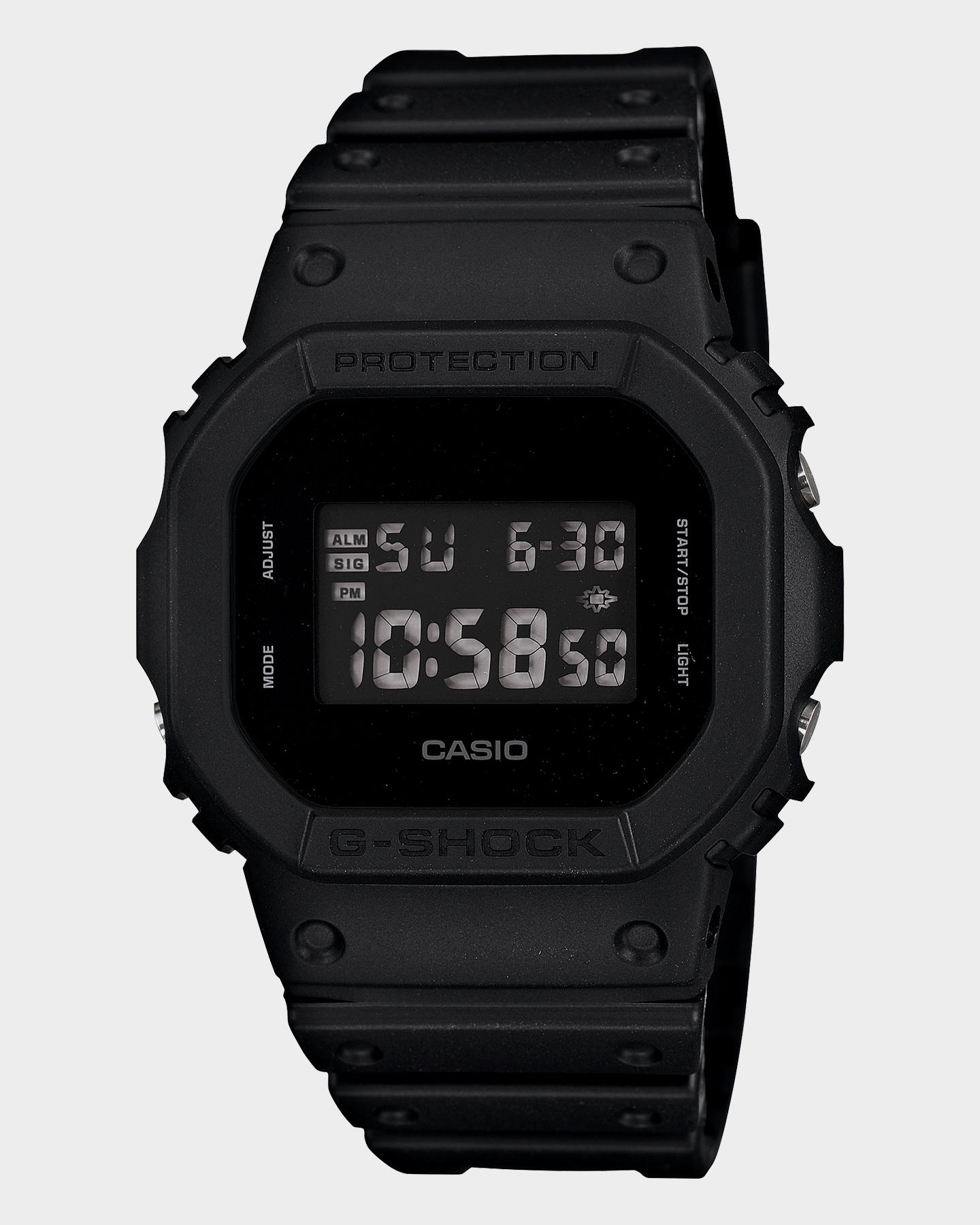 G Shock Dw5600Bb-1E Standard Digital Blackout 5600 Watch Black