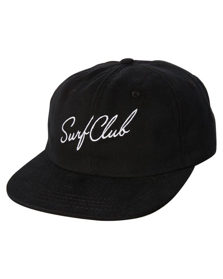 Oakland Surf Club Men s New Wave Cap Cotton Corduroy Black  2ebabb7115e1