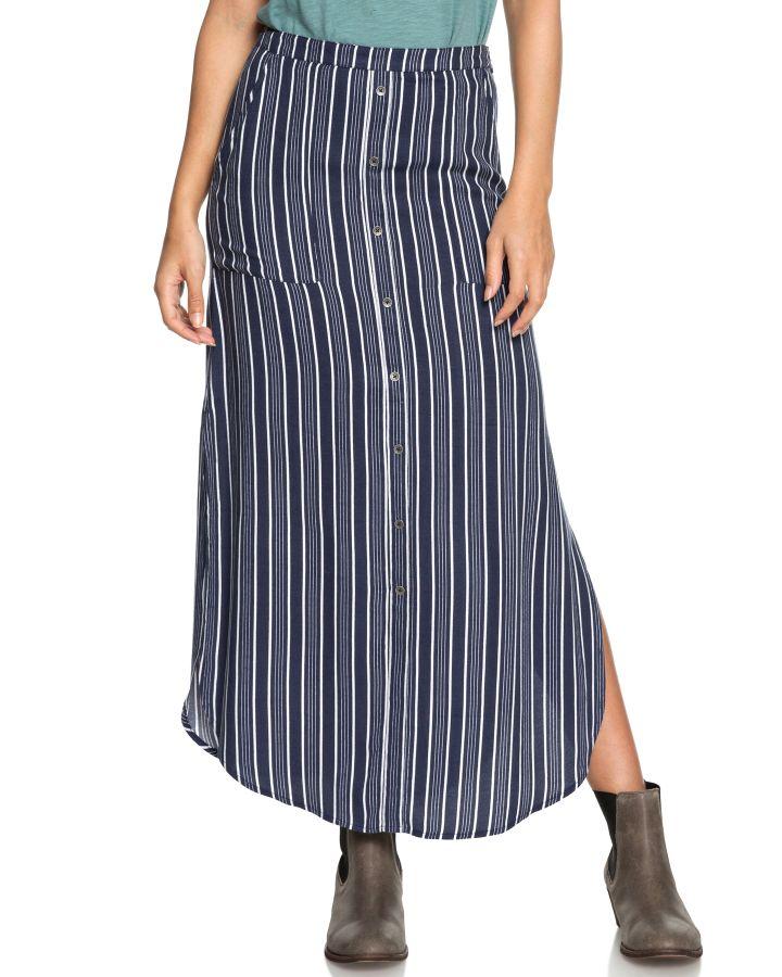 50ab83e2a Roxy Sunset Islands Maxi Skirt Dress Blues Stripes Womens skirts ...