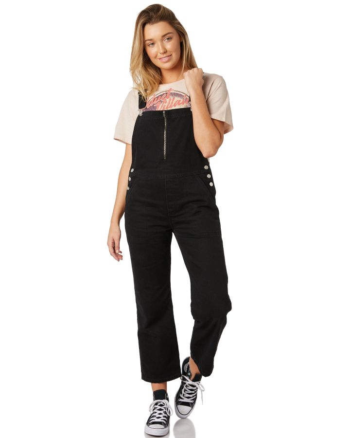 4f4b1b52ab New The Hidden Way Women s Serge Overall Cotton Corduroy Black