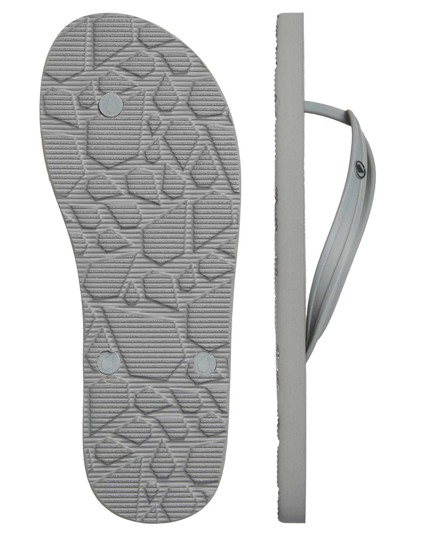 913affeb5 New Volcom Men s Rocker 2 Solid Thong Rubber Pu Grey