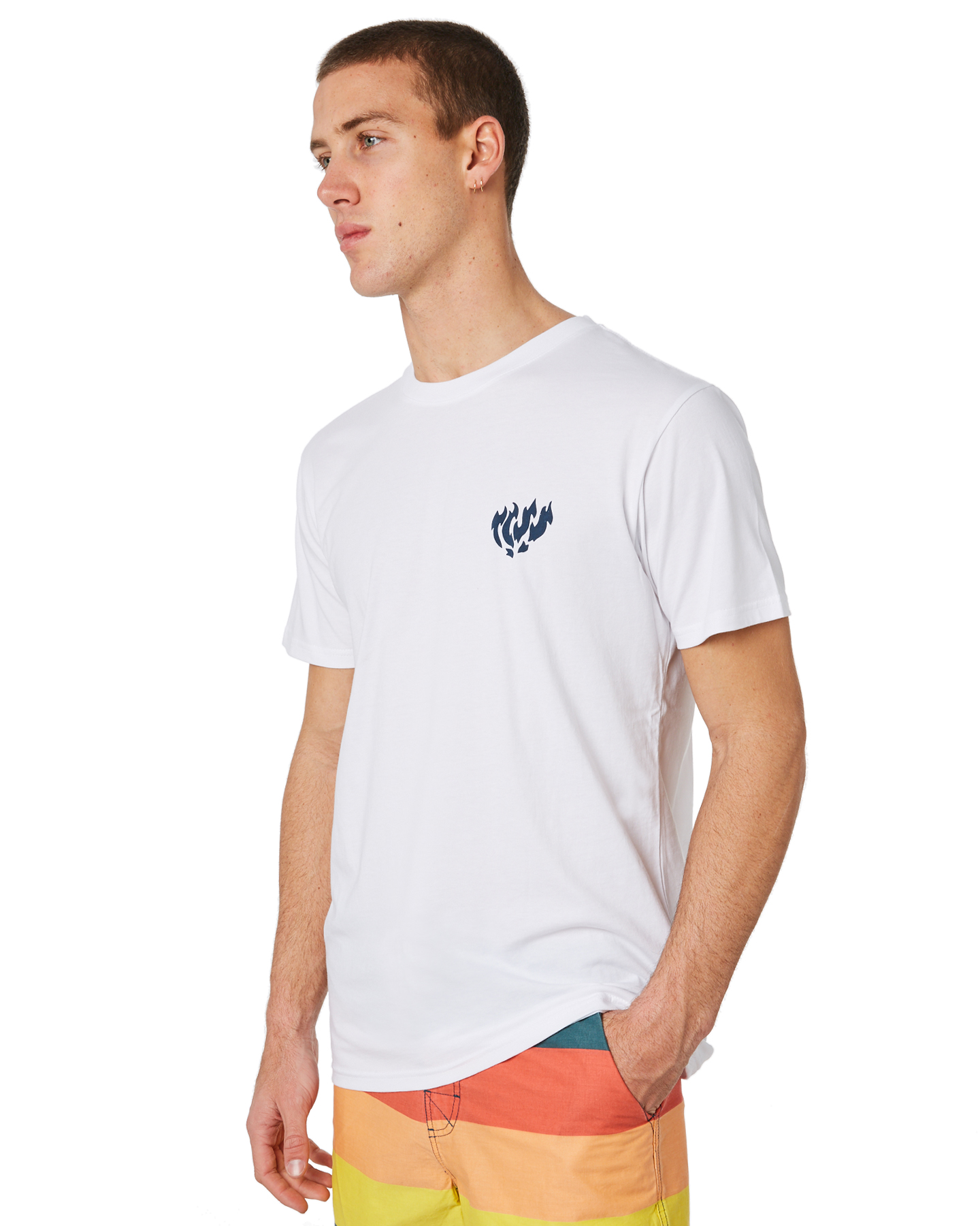 New-The-Critical-Slide-Society-Men-039-s-Burn-Out-Mens-Tee-White