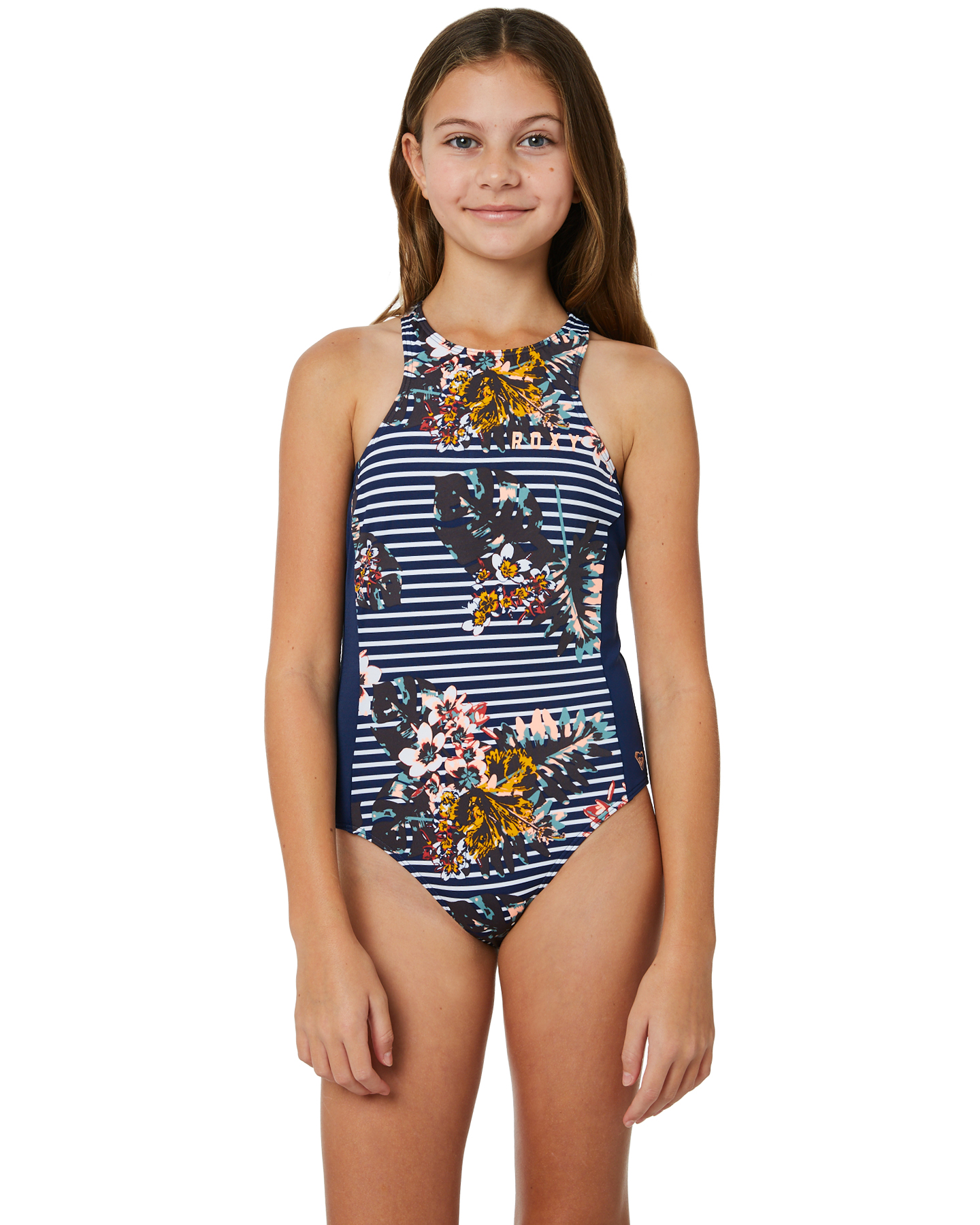 8d831015bd233 Roxy Keep In Flow One Piece Medieval Blue Bdwalk Girls swimsuits ...