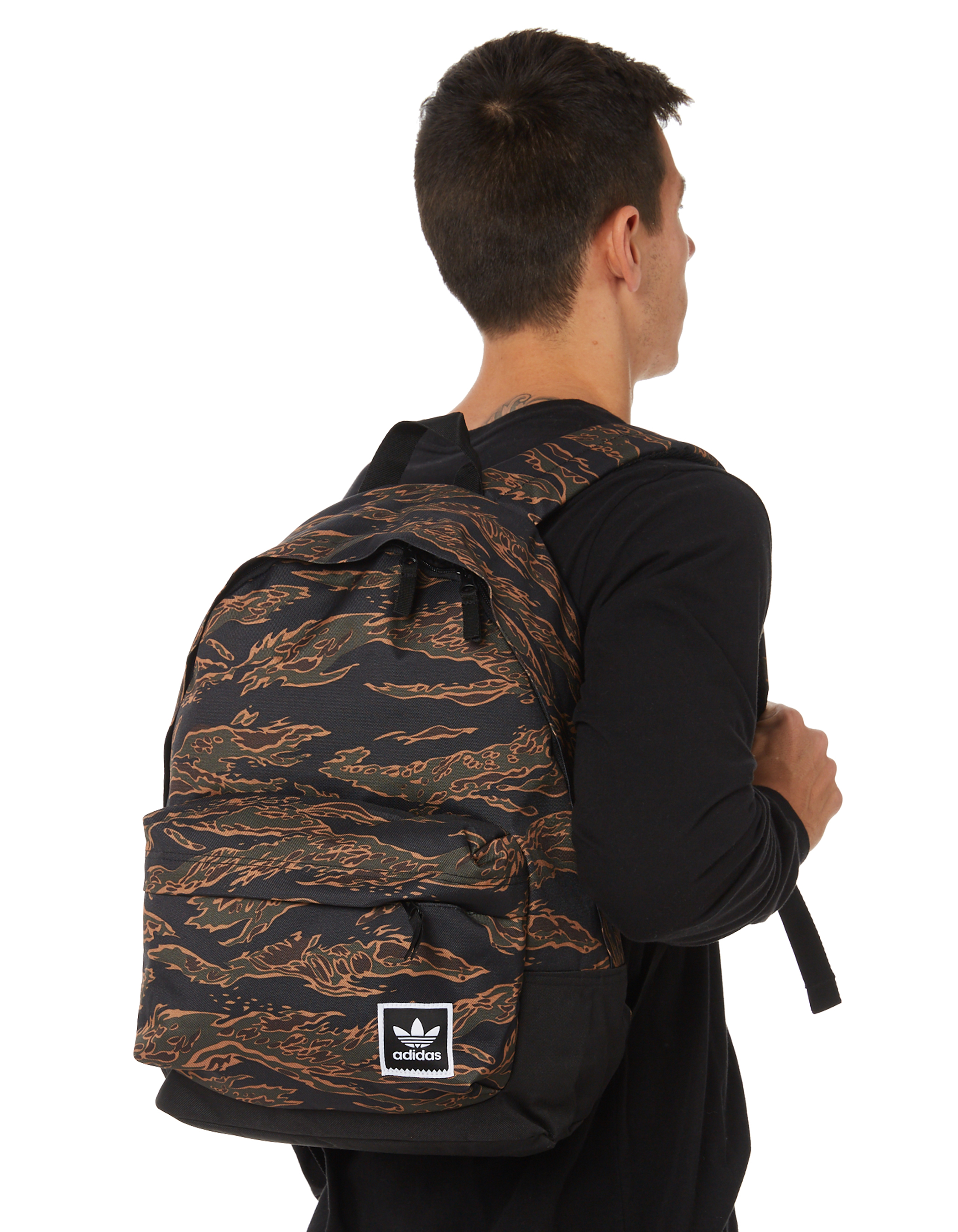 New Adidas Men s Tiger Camouflage Backpack Mesh Green  45096b9411de3