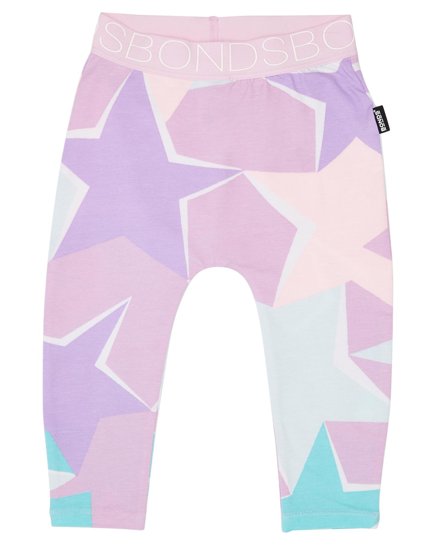 52bf145556172 Bonds Baby Girls Legging Abstract Star Pink Posy Baby Boys Clothing ...