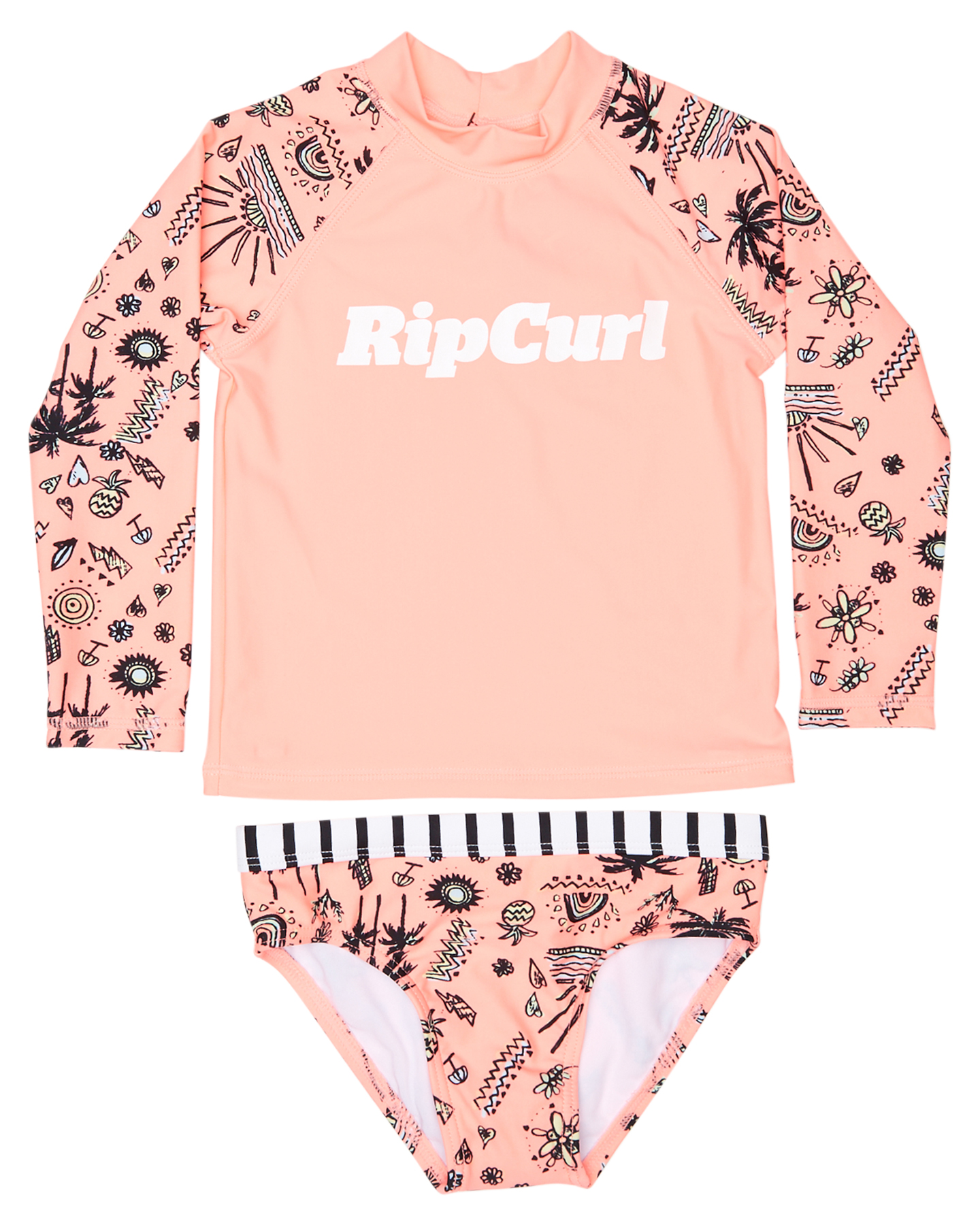 e90ff6b3bc6a3e Rip Curl Tots Girls Anak long sleeve Rash Vest Set Coral Surfing Wetsuits  Available on sale now in size 0 ...