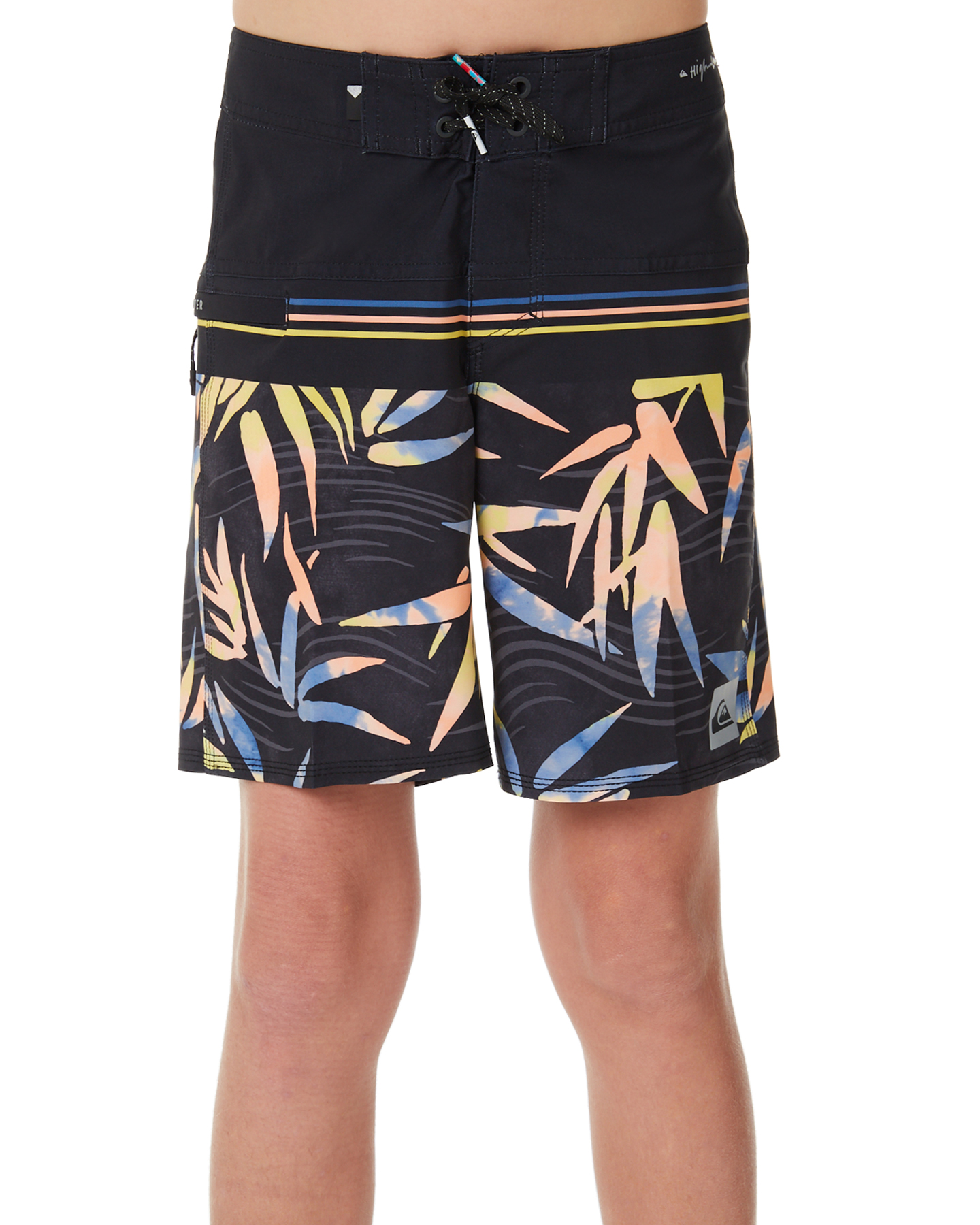 417a0eb2a1 Quiksilver Kids Boys Highline Zen Division Youth 16 Inch Boardshort Black