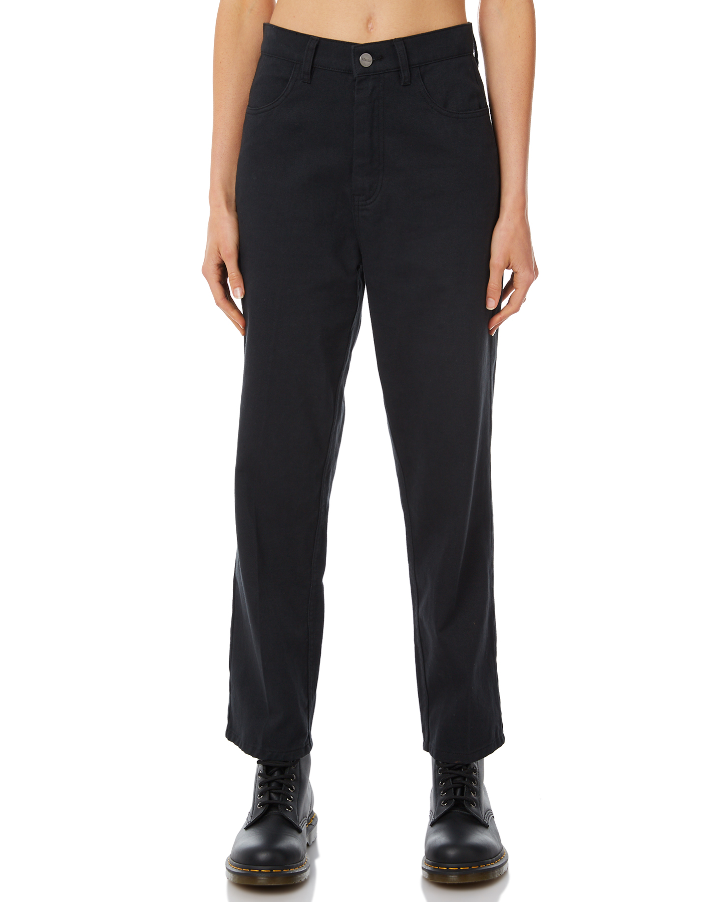 e442da7ac464 Afends Shelby High Waist Wide Leg Pant Black Womens jeans Available on sale  now in size 12 ...