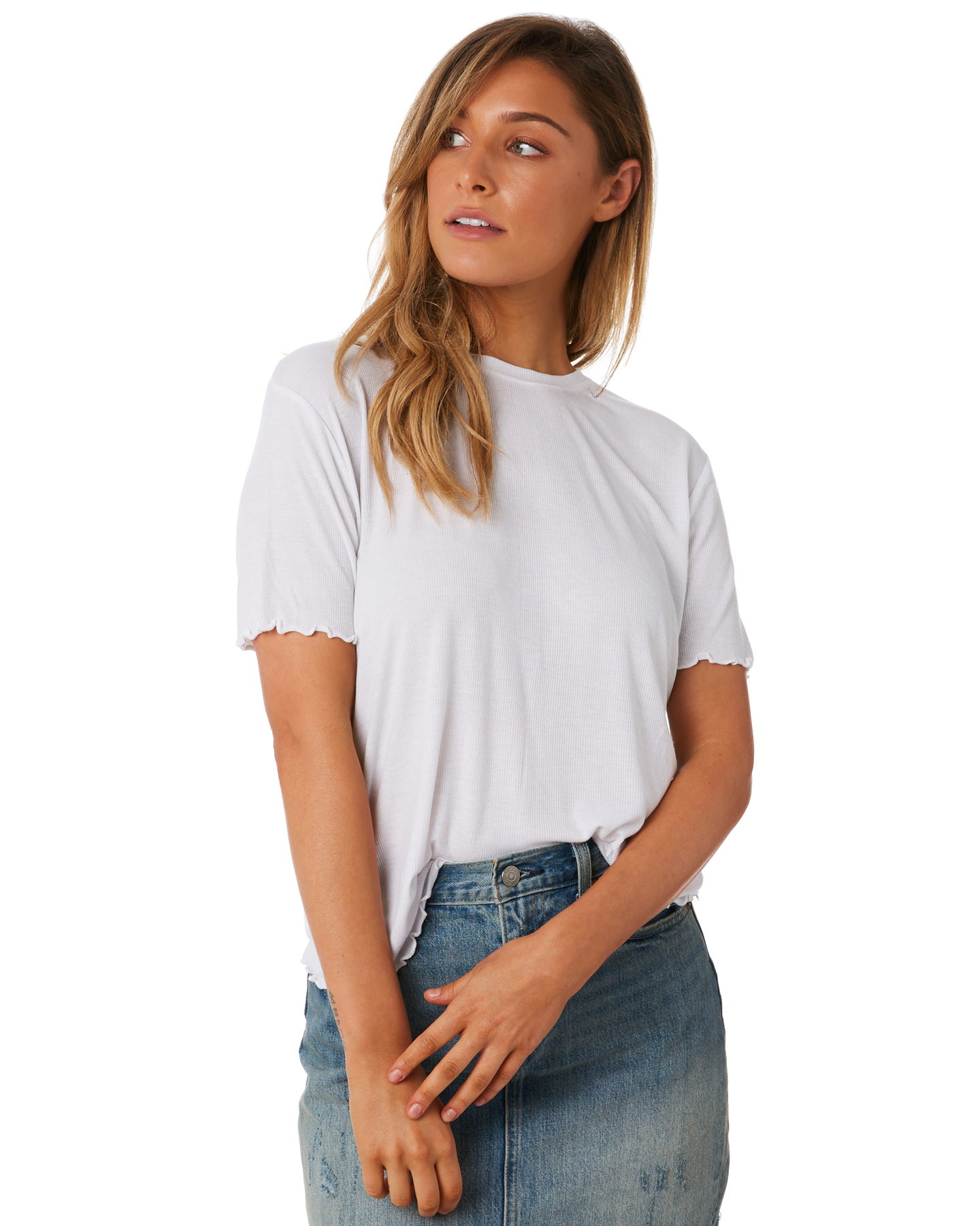 a2f9c90ed6 The Bare Road Women s Sorrento Tee Short Sleeve Cotton Stretch Spandex White