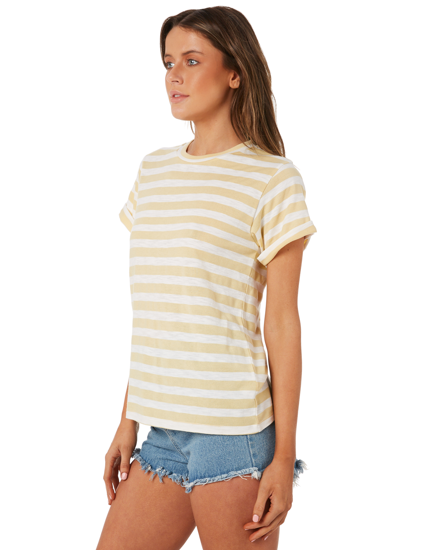 New-Swell-Women-039-s-Ginger-Boyfriend-Tee-Crew-Neck-Short-Sleeve-Cotton-Red thumbnail 7