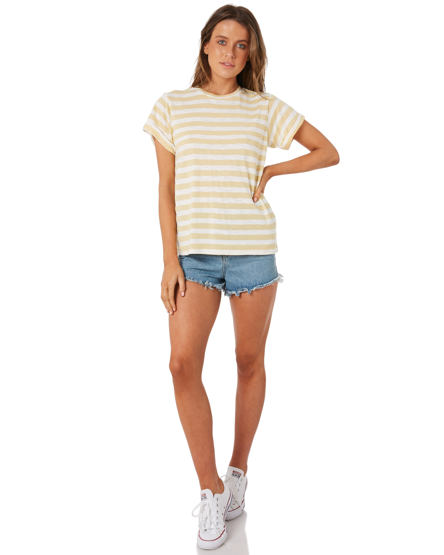 New-Swell-Women-039-s-Ginger-Boyfriend-Tee-Crew-Neck-Short-Sleeve-Cotton-Red thumbnail 10