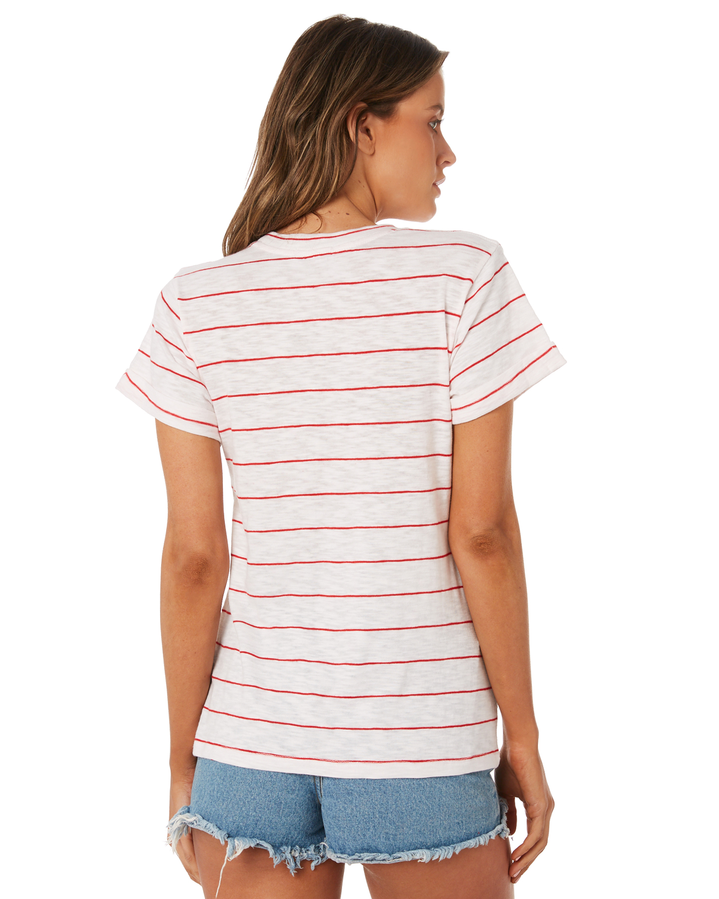 New-Swell-Women-039-s-Ginger-Boyfriend-Tee-Crew-Neck-Short-Sleeve-Cotton-Red thumbnail 13