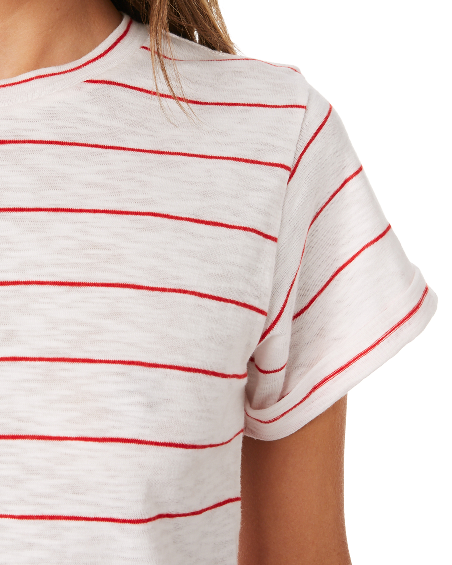 New-Swell-Women-039-s-Ginger-Boyfriend-Tee-Crew-Neck-Short-Sleeve-Cotton-Red thumbnail 14